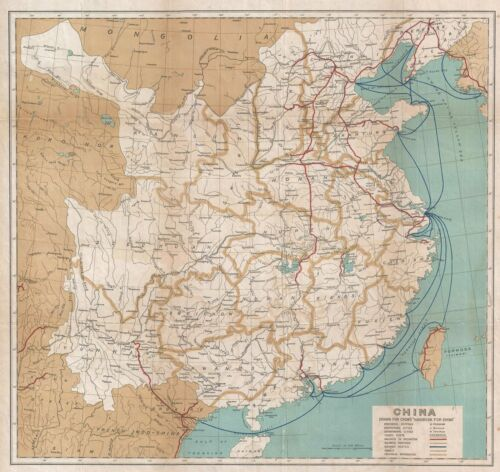 1921 Crow Map of China