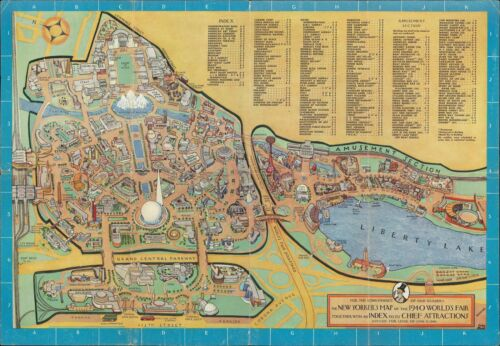1940 Rose Pictorial Map of the 1940 New York World's Fair