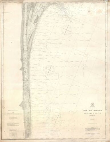 1903 U.S.C.G.S. Nautical Chart or Maritime Map of Cape Canaveral, Florida
