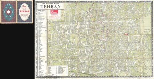 1963 Sahab City Map or Plan of Tehran, Iran