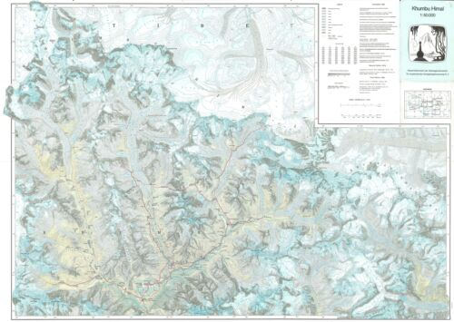 1985 Working Group for Comparative High Mountain Research Map of Mount Everest