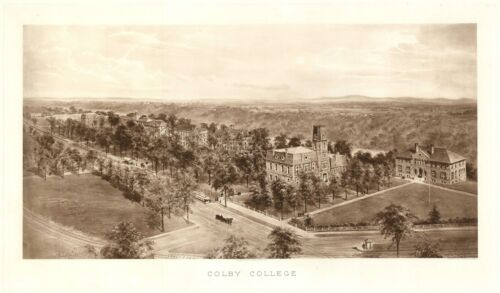 1909 Richard Rummel Sepia View of Colby College