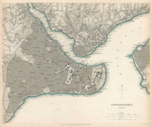 1840 S.D.U.K. Map of Constantinople (Istanbul)