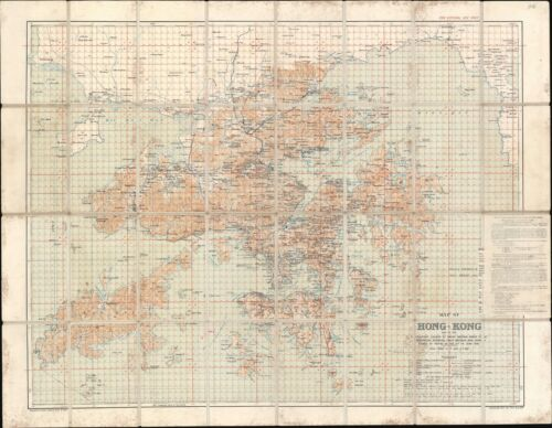 1922 War Office Map of Hong Kong and the New Territories