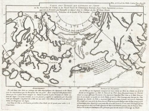 1758 Buache Map of the Arctic after Kaempfer (Considerations)