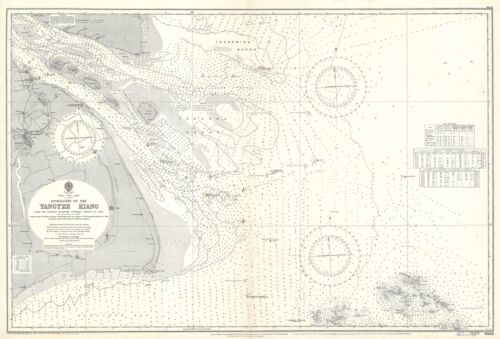 1931 Admiralty Nautical Chart of the Approaches to the Yangtze River