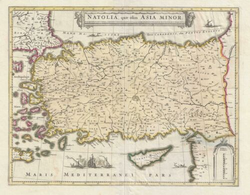 1708 Schenk and Valk Map of Turkey or Asia Minor