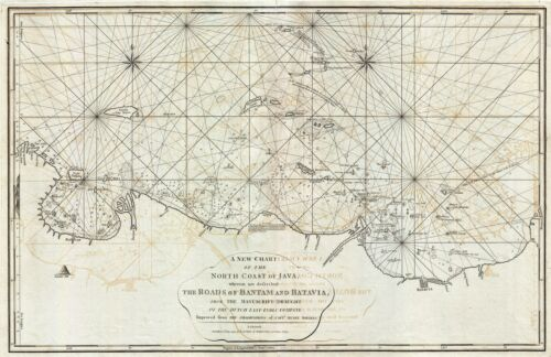 1794 Laurie amd Whittle Nautical Map of the Northwest Java (Jakarta), Indonesia