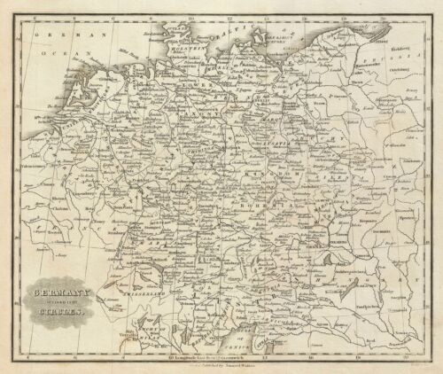 1828 Malte-Brun Map of Germany