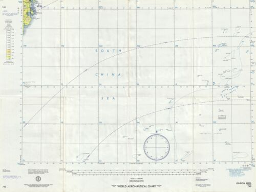 1957 U.S. Air Force Aeronautical Map of the London Reefs, Spartly Islands