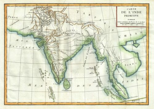 1770 Delisle de Sales Map of Ancient India