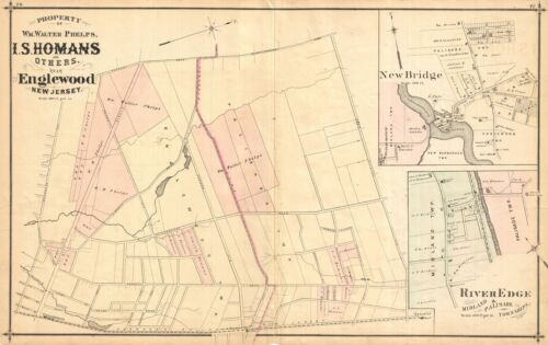1876 Walker Map of Englewood, New Jersey