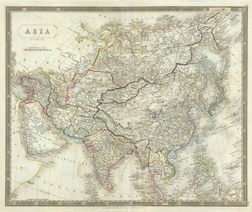 1835 Hall Map of Asia