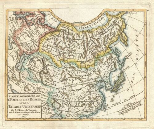 1749 Vaugondy Map of Asia