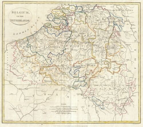 1799 Clement Cruttwell Map of Belgium or the Netherlands