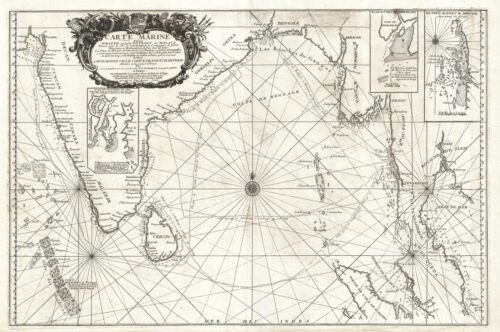 1742 Nolin Map of the Bay of Bengal, Siam (Thailand), and India
