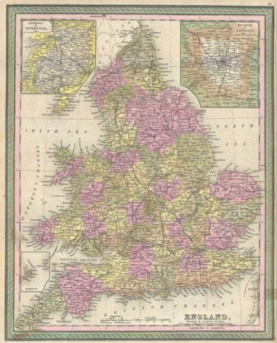 1849 Mitchell Map of England
