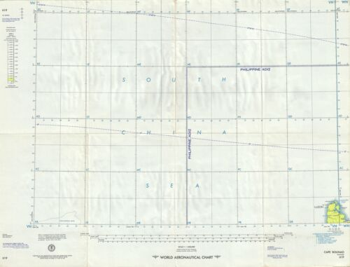 1957 U.S. Air Force Aeronautical Map of Cape Balinao, Luzon, Philippines