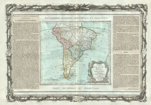 1786 Desnos and de la Tour Map of South America
