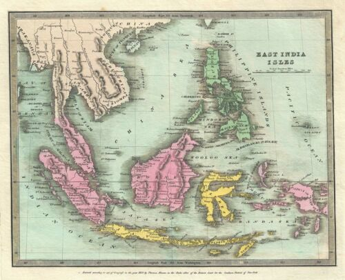 1835 Burr Map of the East Indies