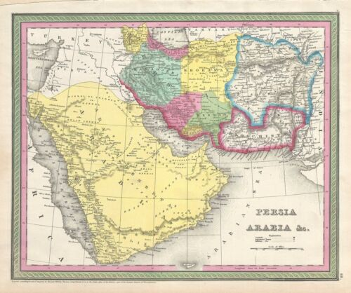 1854 Mitchell Map of Persia and Arabia