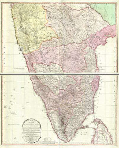 1800 Faden and Rennell Map of India