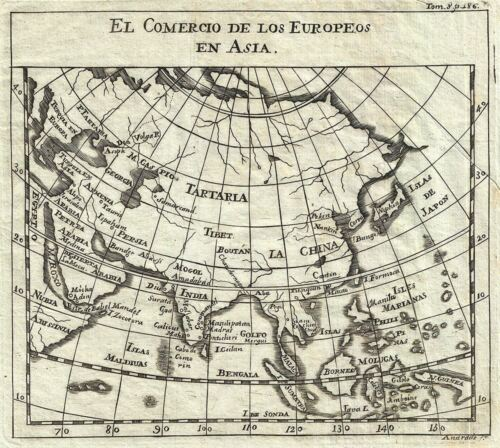 1754 Gabriel Ramirez Map of Asia