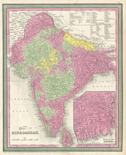 1854 Mitchell Map of India