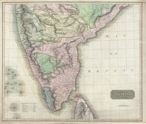 1816 Thomson Map Southern India