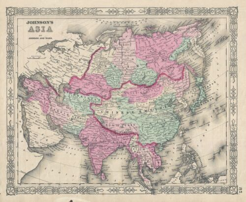 1863 Johnson Map of Asia