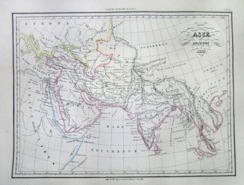 1833 Malte-Brun Map of Asia in Ancient Times