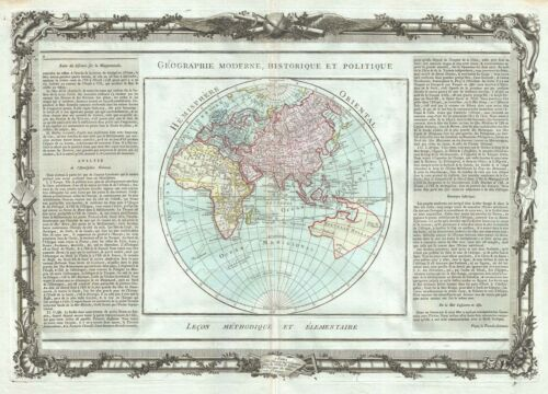 1786 Desnos and de la Tour Map of the Eastern Hemisphere