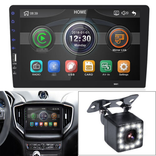 WINCE System 1Din Car Stereo Radio 9'' Video Player w/ Camera BT Hands-free 12V