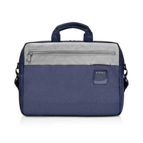 "Everki 15.6"" ContemPRO Commuter Laptop Briefcase Navy Notebook Tablet Bag Kindle"