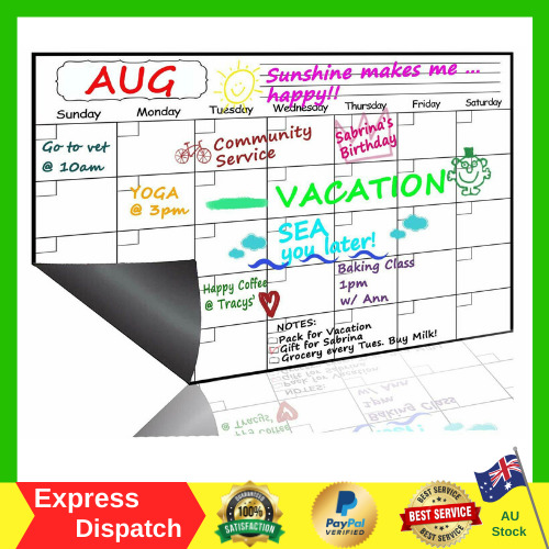 Magnetic Dry Erase Calendar Monthly Planner 2019 2010 Wall Fridge White Board