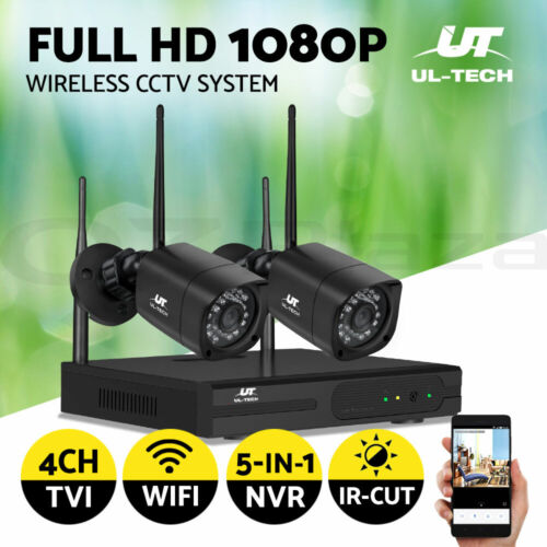 UL-tech CCTV Security Wireless Camera System Home Outdoor IP Set WIFI 1080P 4CH
