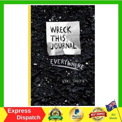 Wreck This Journal Everywhere by Keri Smith Diary Paperback Book NEW Free Ship