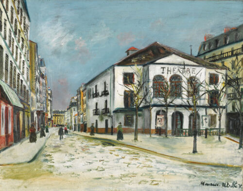Maurice Utrillo Theater Of The Workshop In The Snow Canvas Print 16 x 20  #4746