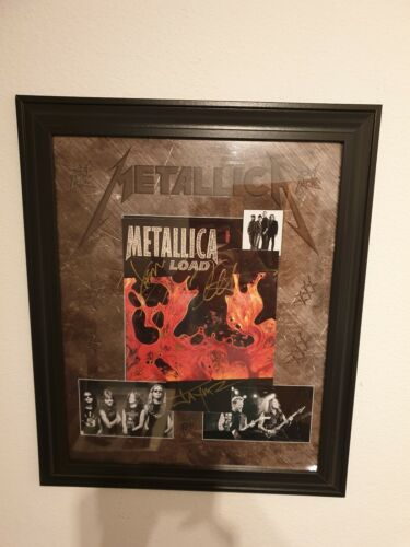 Autograph Metallica !! Including James Hetfield !! He does not sign any more !!