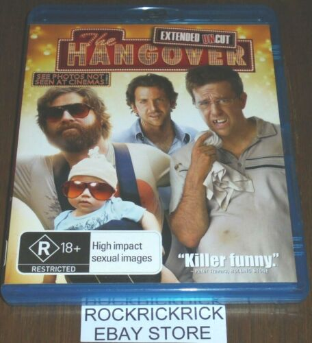 THE HANGOVER EXTENDED UNCUT REGION B BLU-RAY (BRADLEY COOPER,ZACH GALIFIANAKIS)