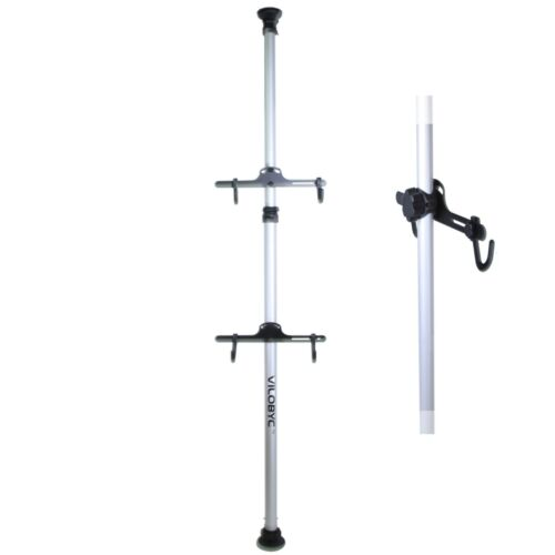 Heavy Duty Aluminum Alloy 2 Bike Bicycle Hanger Rack Storage Stand Roof Ceiling