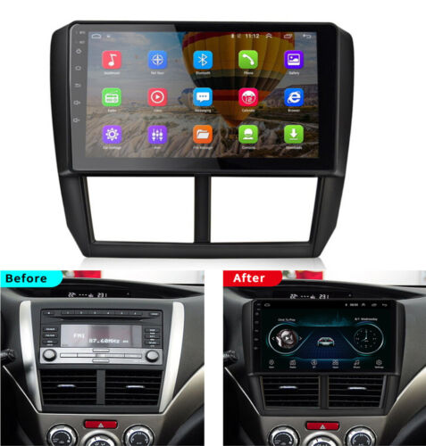 Android 9.1 Car Stereo Radio Head Unit 9'' HD GPS For Subaru Forester 2008-2012