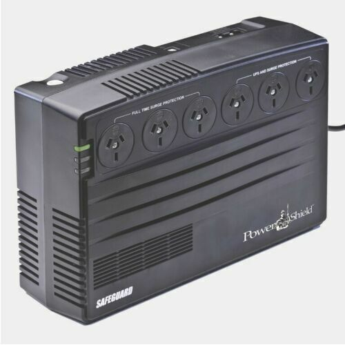 PowerShield SafeGuard 750VA Powerboard Style UPS w Telephone Modem Surge protect