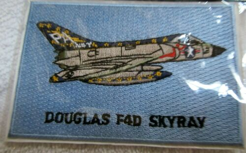 """DOUGLAS F4D SKYRAY Patch Measures 2-1/2"""" x 4"""" NOS Stock never released c2003Air Force - 48823"""