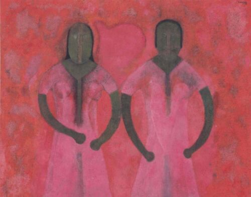 Rufino Tamayo Two Women In Reds Canvas Print 16 x 20    #4424