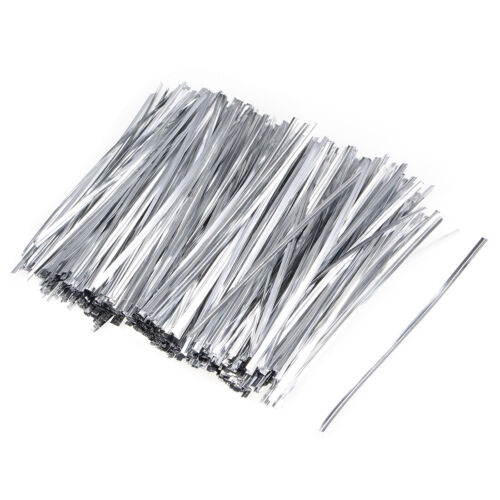 Long Strong Twist Ties 4.7 Inches Quality Plastic Closure Tie Silvery 500pcs