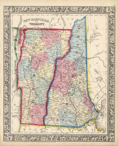 """1864 S.A. Mitchell """"New Hampshire & Vermont"""""""