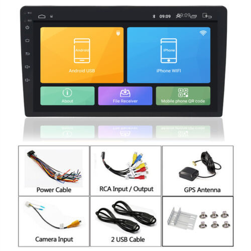 "Android 9.1 HD 10.1"" Car Stereo Radio 1DIN GPS Navi RAM 2GB ROM 16GB Mirror Link"