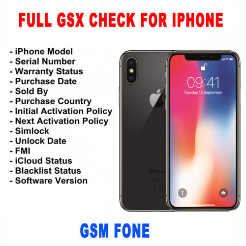 CHECK IMEI INFO IPHONE FULL GSX INFORMATIONS COMPLETE