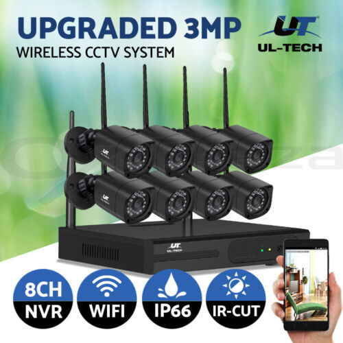 UL-tech CCTV Wireless Home Security Camera System Set Outdoor IP WIFI 1080P 8CH